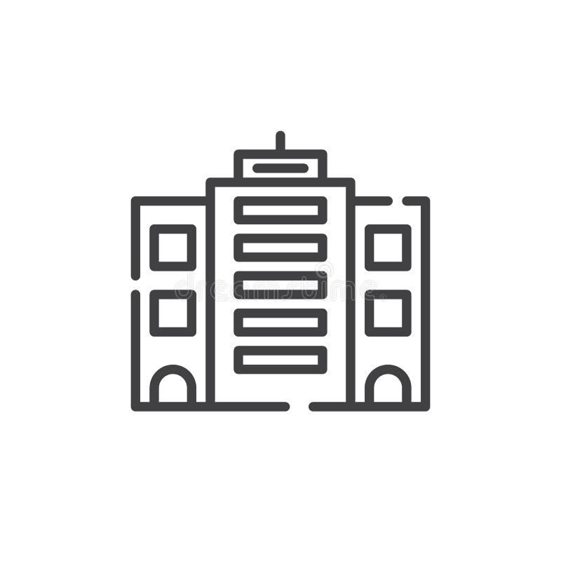 Línea de fachada icono ilustración del vector