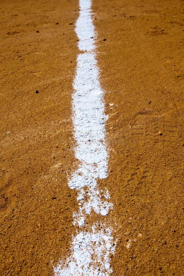 Línea de fondo del béisbol fotos de archivo