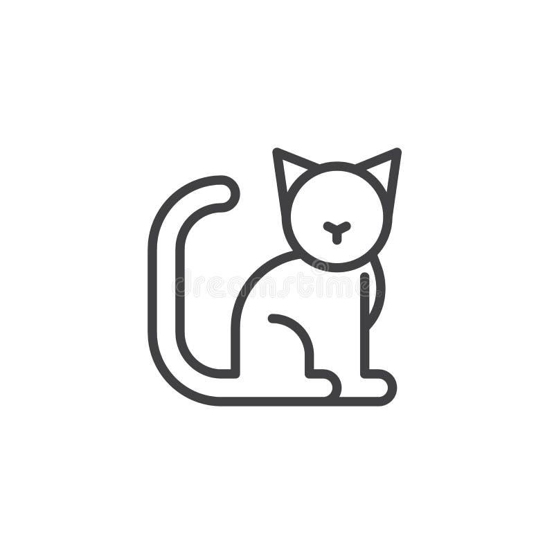 Línea de gato icono ilustración del vector