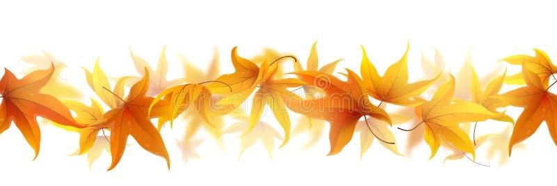 Línea de hojas de otoño stock de ilustración