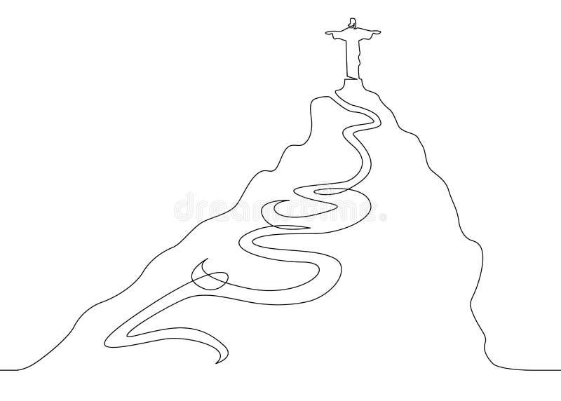 Línea de Jesús uno stock de ilustración