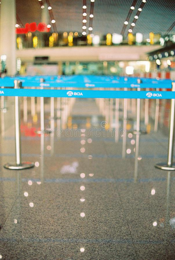 Línea de líder en el aeropuerto internacional de Pekín fotografía de archivo libre de regalías