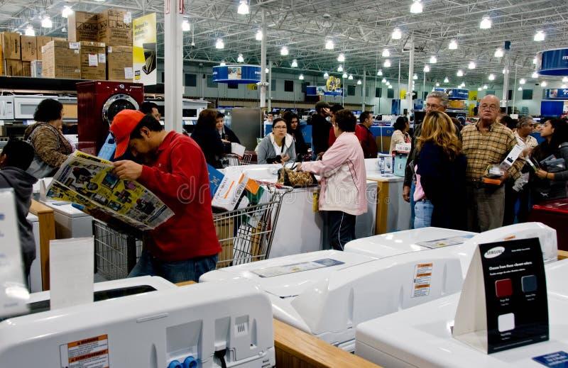 Línea de la comprobación para las compras del día de fiesta imagen de archivo