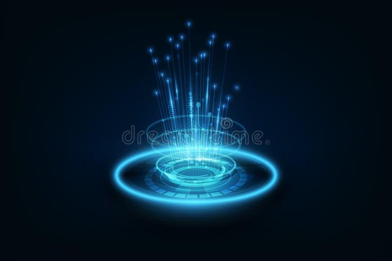 Línea de la conexión en backgrou del concepto de la telecomunicación del establecimiento de una red stock de ilustración