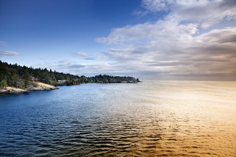 Línea de la costa fotografía de archivo