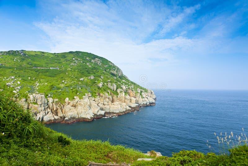 Línea de la costa de DongYin, Matsu, Taiwán fotos de archivo