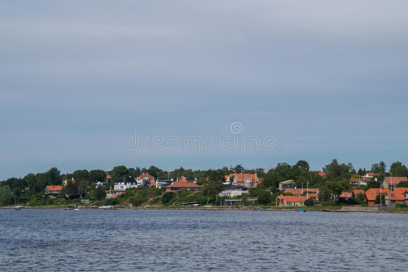 Línea de la costa, Roskilde, Dinamarca fotografía de archivo