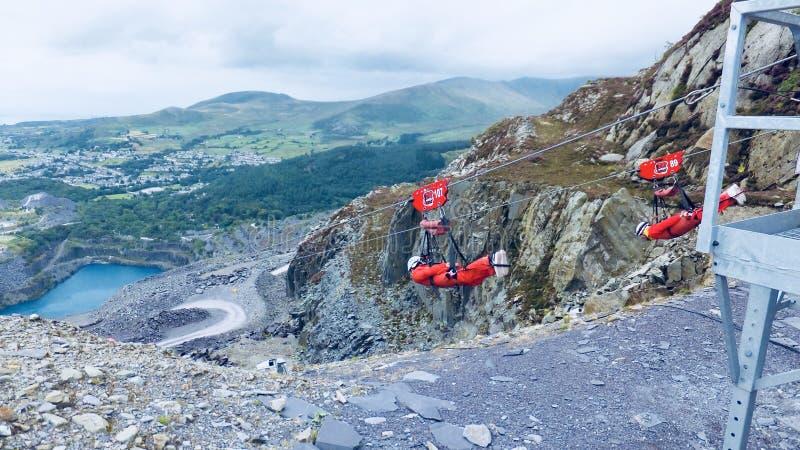 Línea de la cremallera en País de Gales