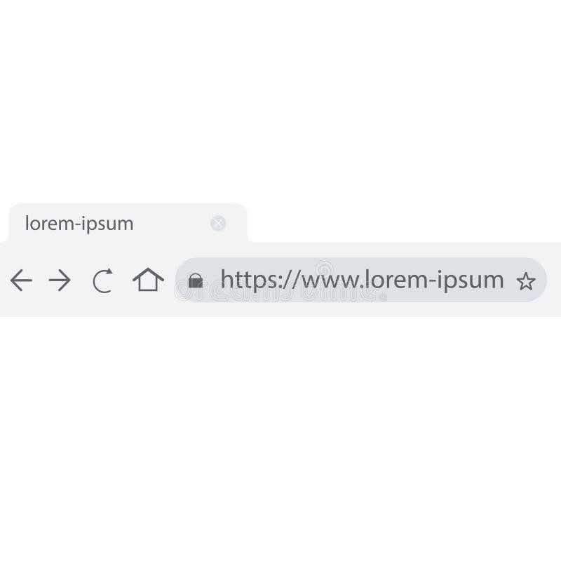 línea de la dirección de sitio web en plano del navegador ilustración del vector