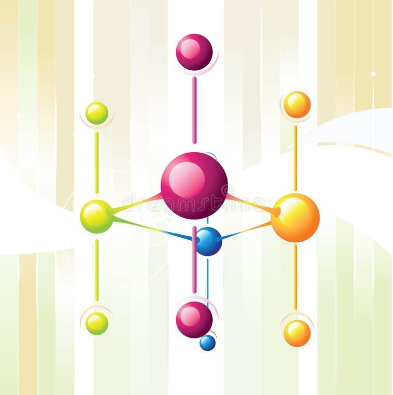 Línea de la molécula stock de ilustración