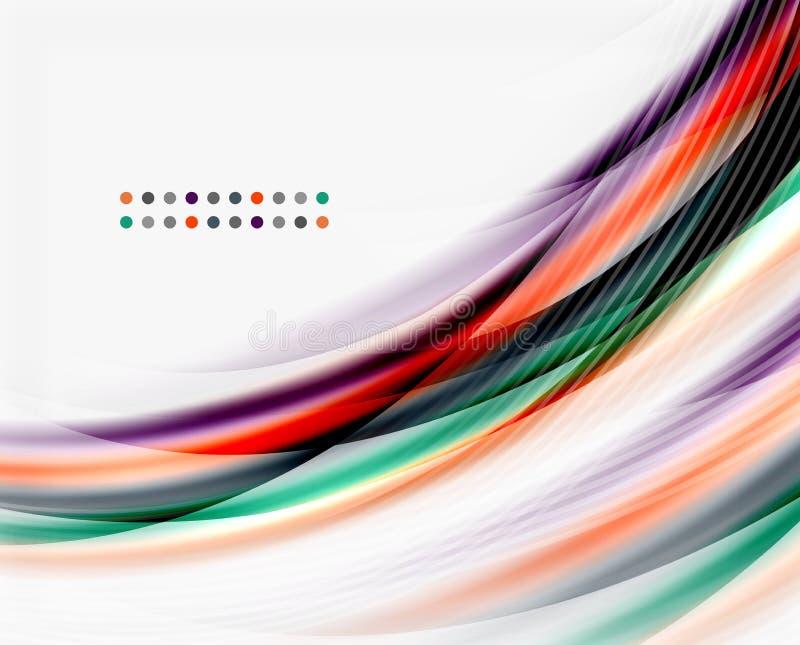 Línea de la onda del vector, negocio o plantilla translúcido de la tecnología libre illustration