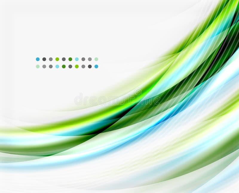 Línea de la onda del vector, negocio o plantilla translúcido de la tecnología stock de ilustración