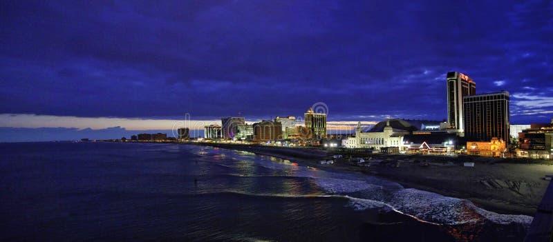 Línea de la playa de Atlantic City fotos de archivo libres de regalías