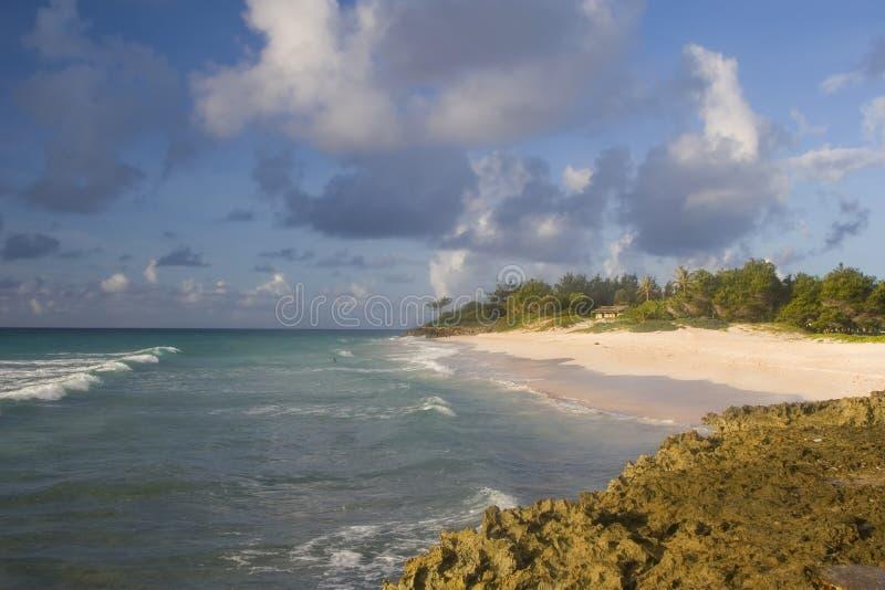 Línea De La Playa De Barbados Foto de archivo