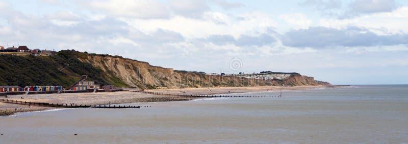 Línea De La Playa De Cromer Imagenes de archivo