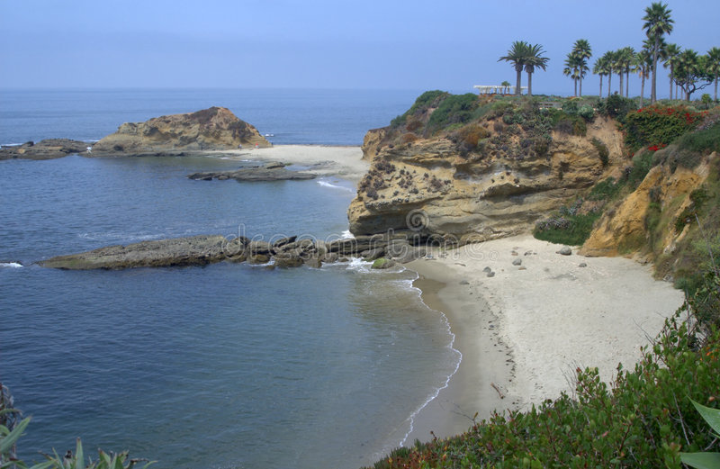 Línea de la playa de Laguna imagen de archivo