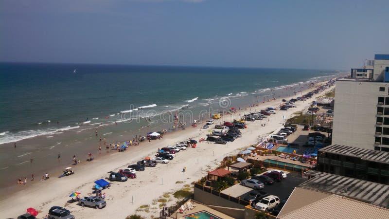Línea de la playa del océano de Daytona Beach fotografía de archivo libre de regalías
