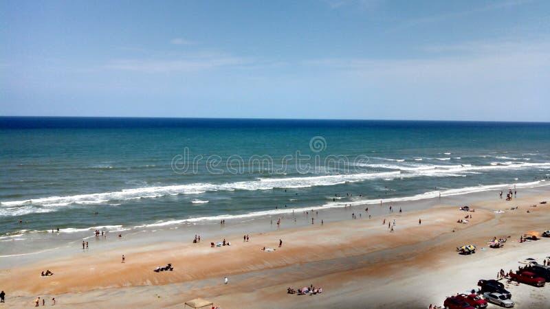 Línea de la playa del océano de Daytona Beach fotos de archivo libres de regalías