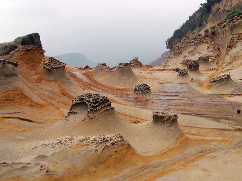 Línea de la playa en Taiwán fotos de archivo libres de regalías