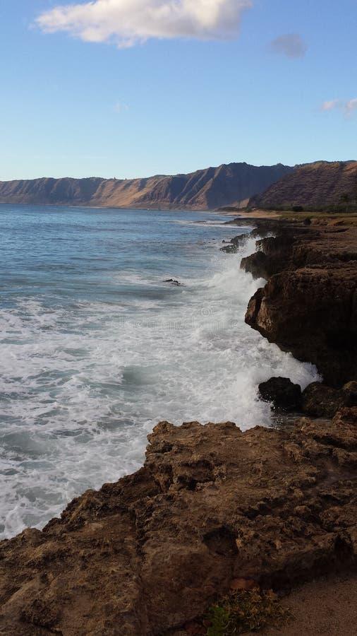 Línea de la playa hawaiana fotografía de archivo