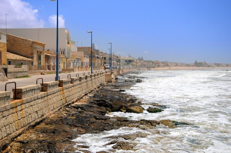 Línea De La Playa Siciliana Imágenes de archivo libres de regalías