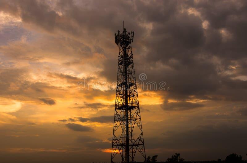 Línea de la transmisión tower foto de archivo