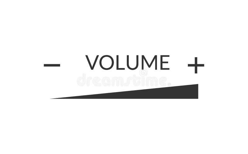 Línea de levantamiento de la intensidad del volumen libre illustration