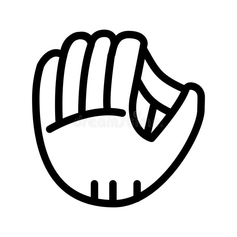 Línea de mano del béisbol icono del vector ilustración del vector