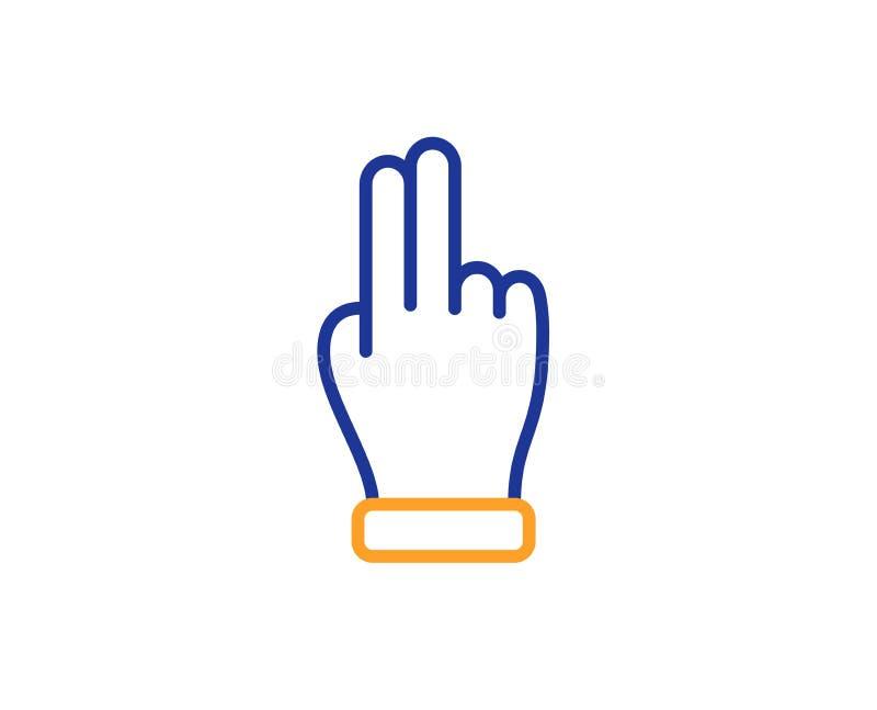 Línea de mano del tecleo icono r Vector stock de ilustración