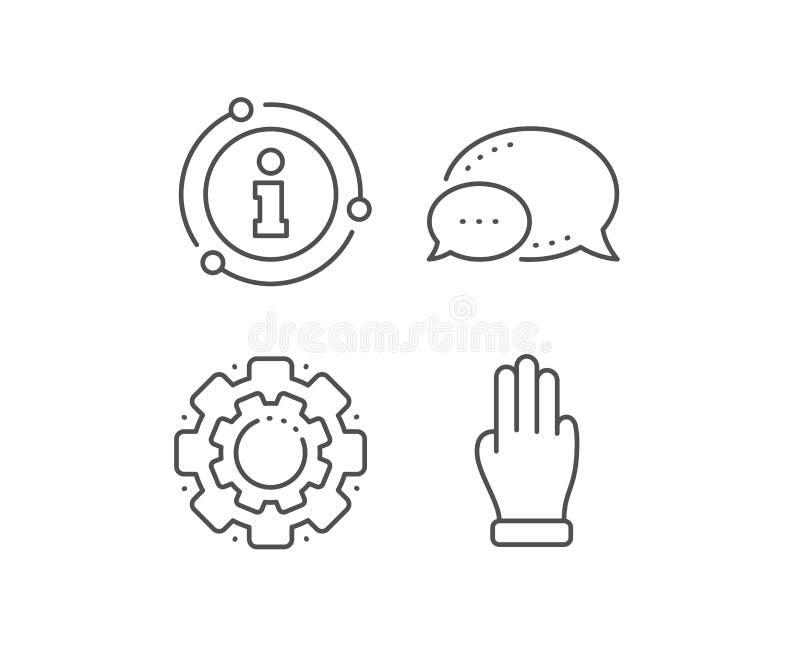 Línea de mano de tres fingeres icono Muestra de la palma del tecleo Vector libre illustration