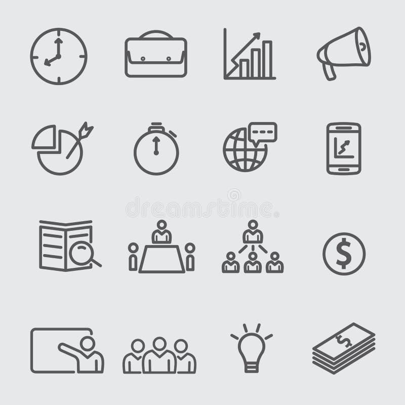Línea de negocio icono libre illustration