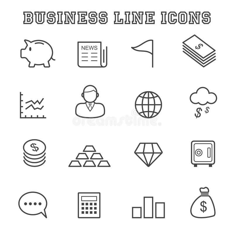 Línea de negocio iconos ilustración del vector