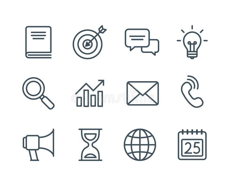 Línea de negocio iconos libre illustration