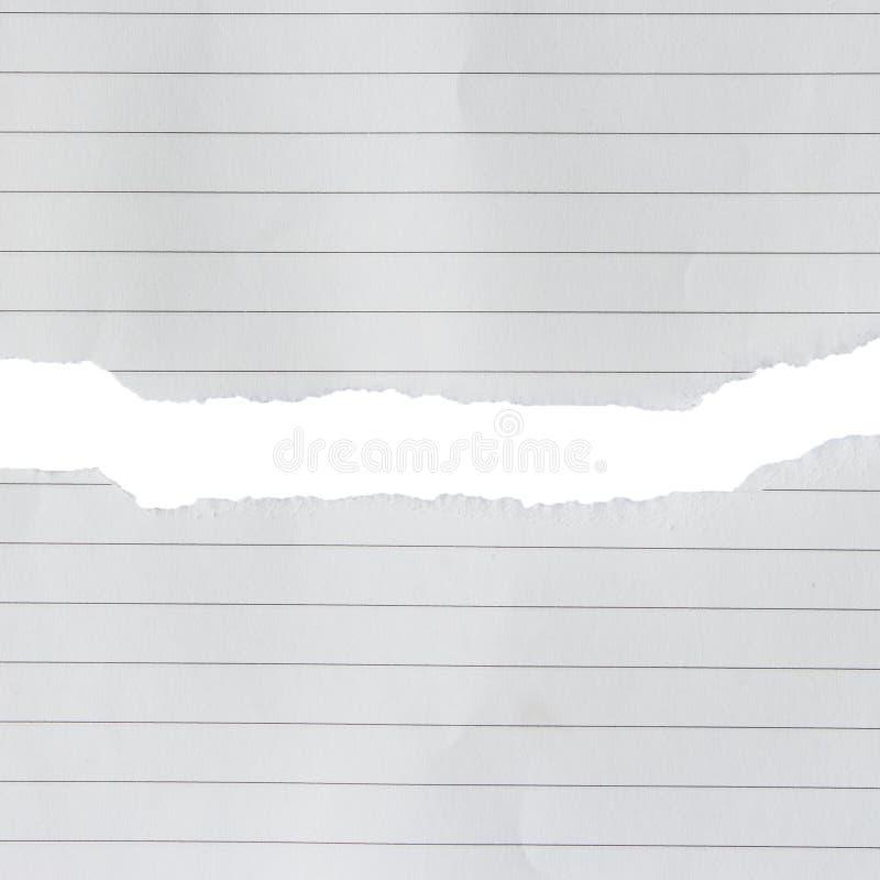 Línea de papel rasgada de los pedazos imagen de archivo libre de regalías