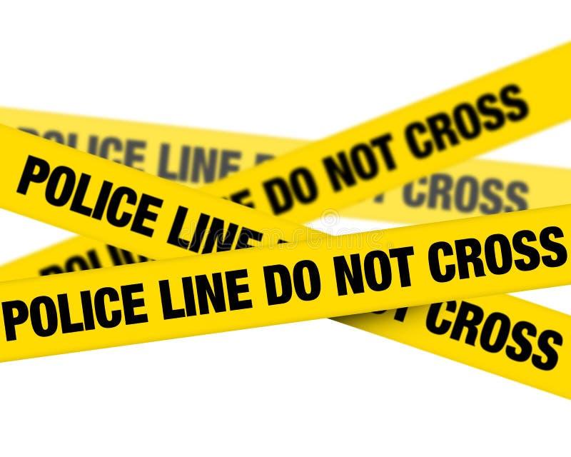 Línea de policía ilustración del vector