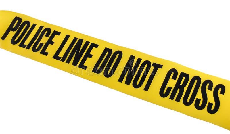 Línea de policía cinta imagen de archivo libre de regalías