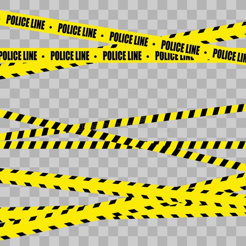 Línea de policía sistema Peligro stock de ilustración