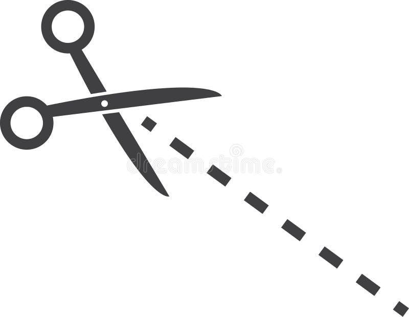 Línea de puntos de las tijeras libre illustration