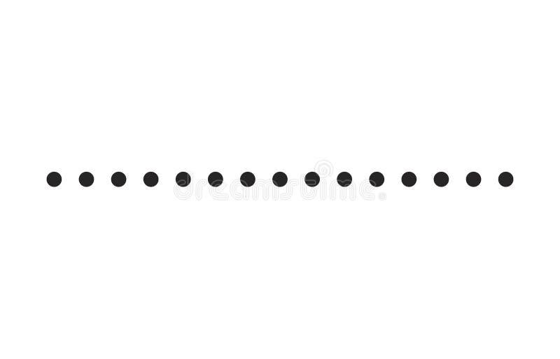 Línea de puntos diseño simple del icono del símbolo del vector de la forma ilustración del vector