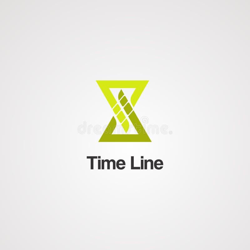 Línea de tiempo vector, icono, elemento, y plantilla del logotipo para el negocio libre illustration