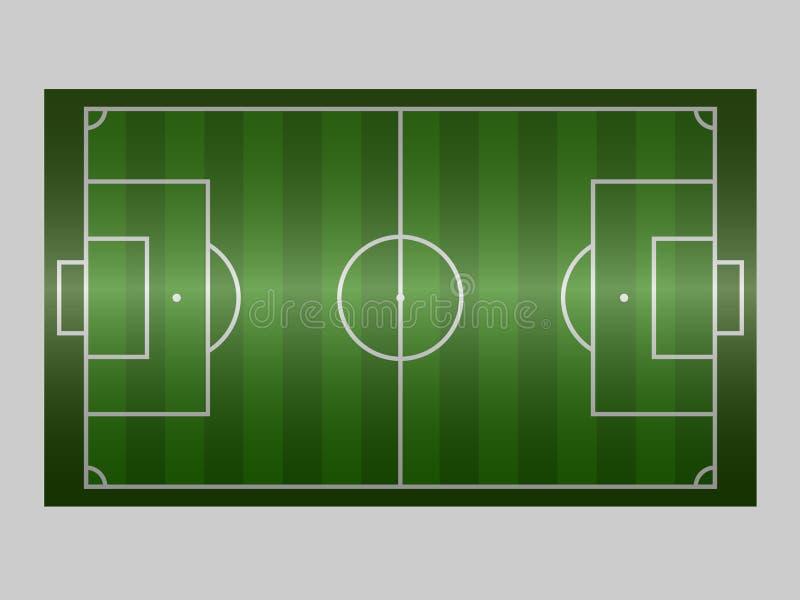 Línea de tierra del campo de fútbol verde/línea de tierra del campo de fútbol del verde Ejemplo del vector del deporte imagen, JP imagen de archivo libre de regalías