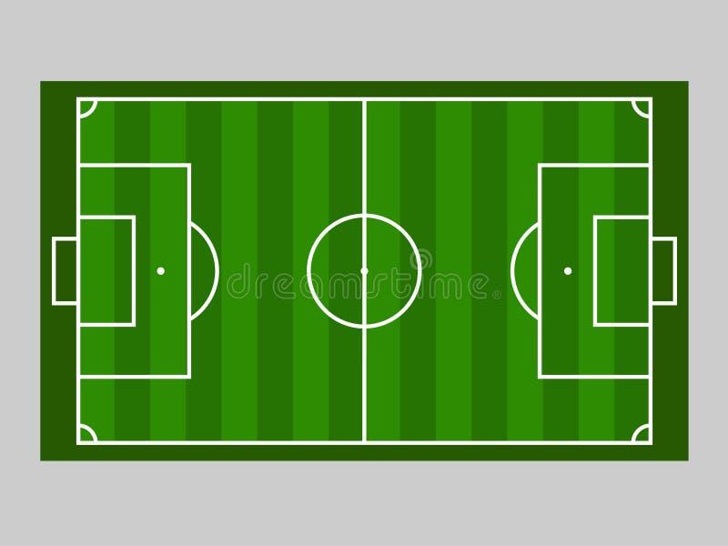Línea de tierra del campo de fútbol verde/línea de tierra del campo de fútbol del verde Ejemplo del vector del deporte imagen, JP fotografía de archivo libre de regalías