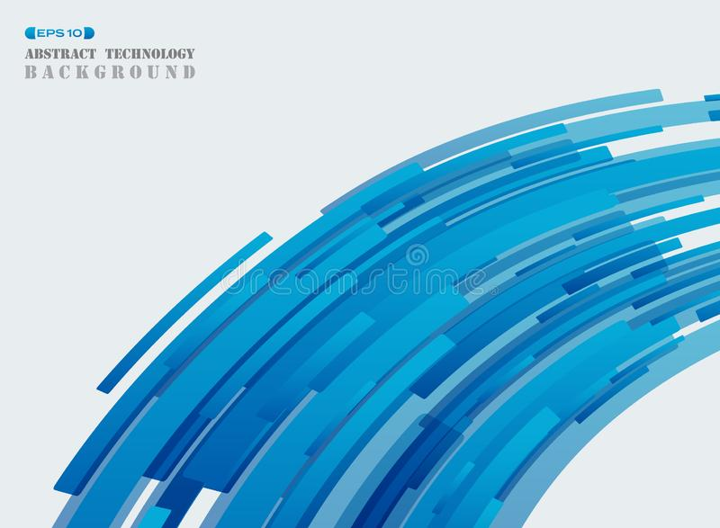 Línea de tira azul de la tecnología futurista abstracta CCB de la cubierta del modelo ilustración del vector
