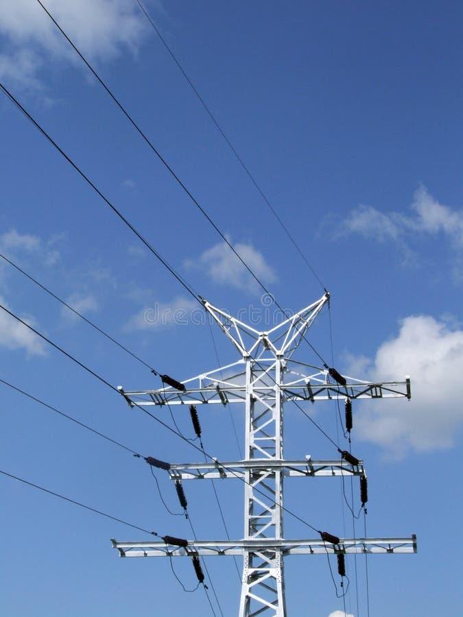 Línea de transmisión de potencia imagen de archivo