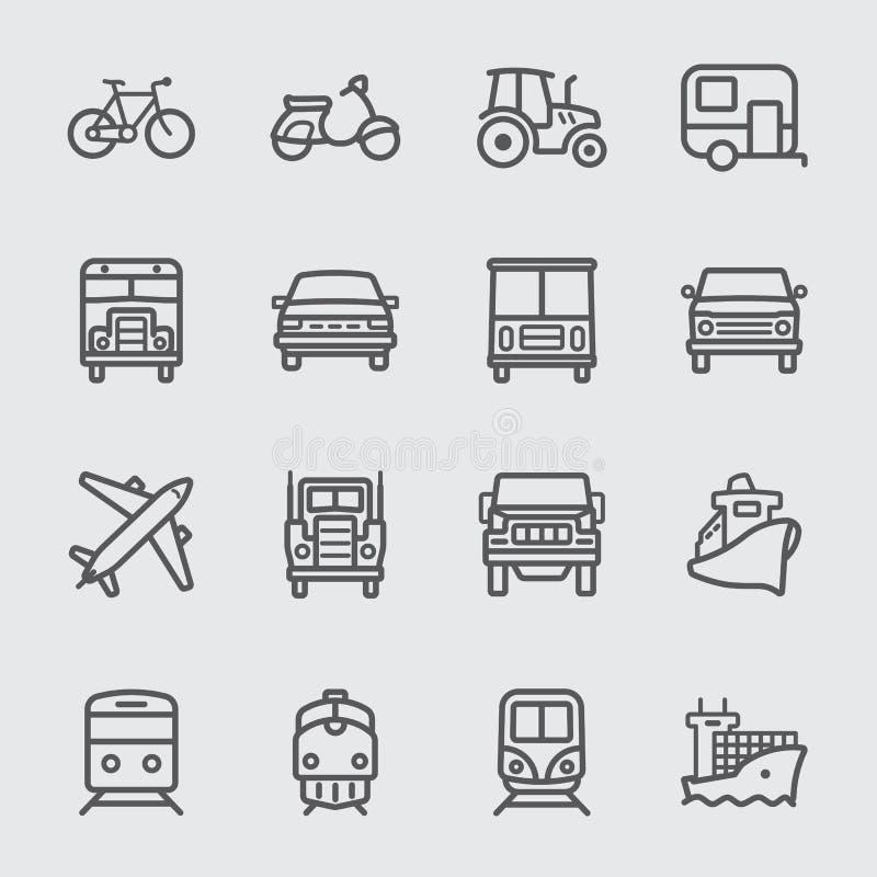Línea de transporte icono ilustración del vector