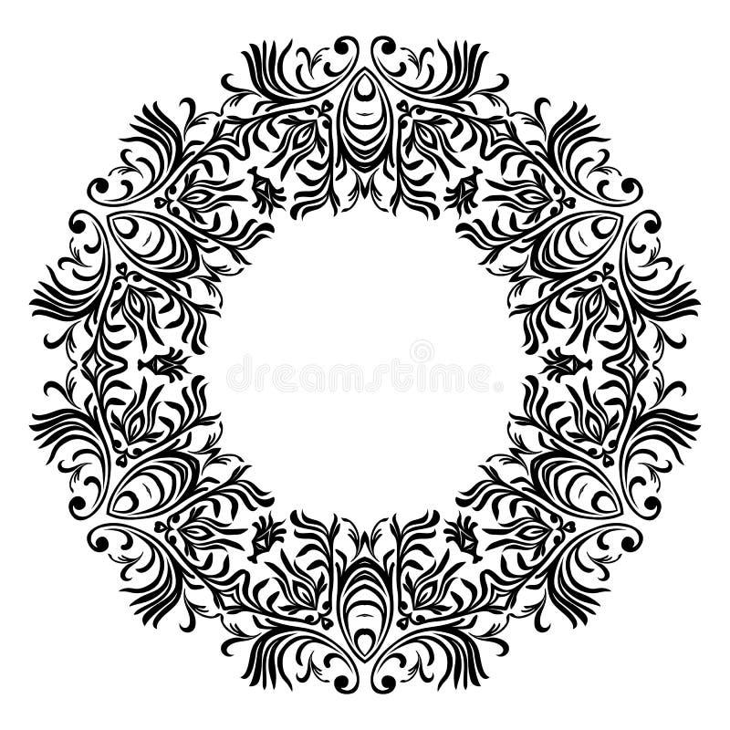 Línea decorativa marcos del arte para la plantilla del diseño Elemento elegante para el diseño, lugar para el texto Frontera flor libre illustration