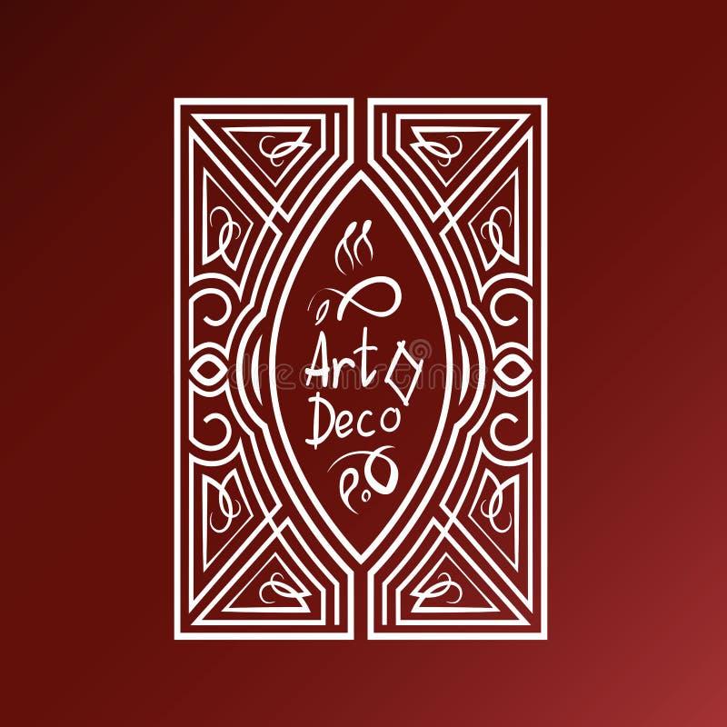 Línea decorativa plantilla del vector del marco del arte Elegante stock de ilustración