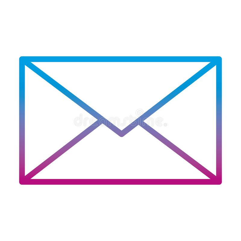 Línea degradada estilo de la tecnología del mensaje de la comunicación del email libre illustration