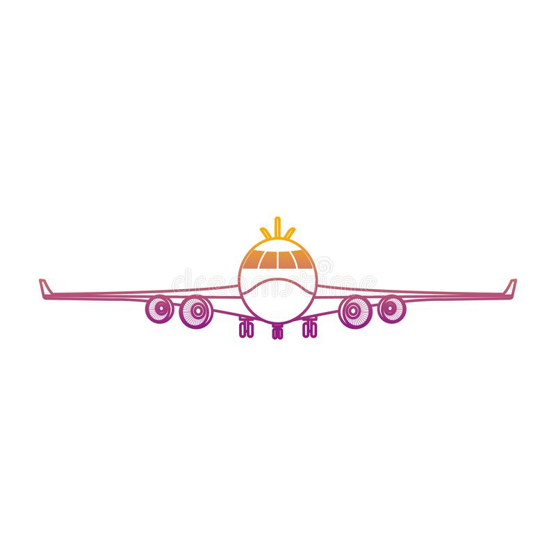 Línea degradada transporte delantero de la moda del vehículo del aeroplano libre illustration