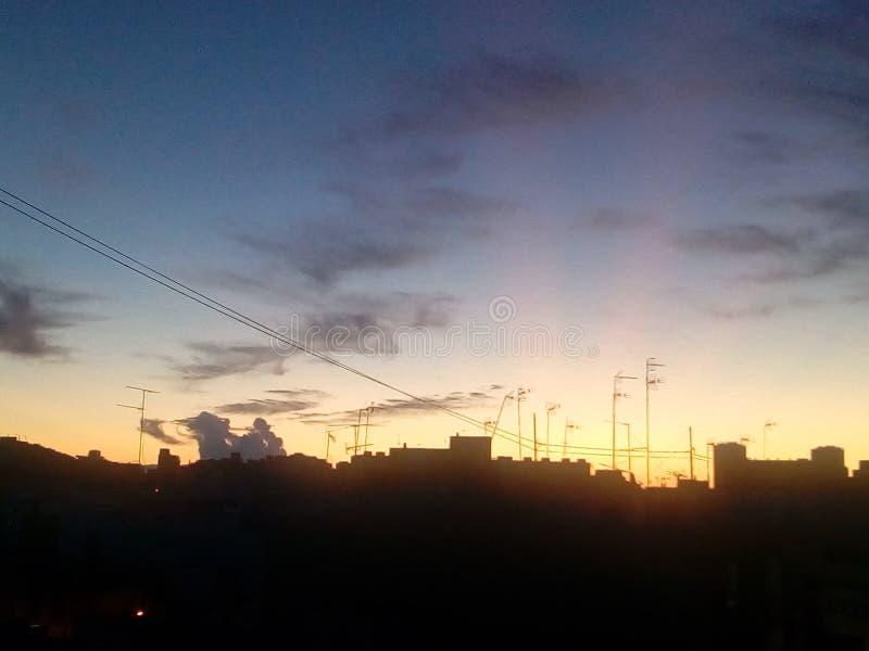 Línea del cielo imagenes de archivo